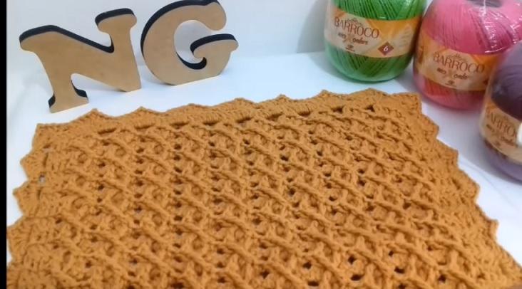 Ponto Colmeia Em Crochê – Material e Vídeo