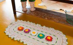 Tapete Flores ColoridasEm Crochê – Material e Receita