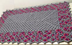 Tapete Retangular Ponto Concha Crochê – Material e Vídeo