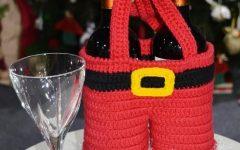 Porta Garrafa Natal Em Crochê – Material e Como Fazer