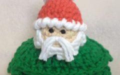 Sachê Papai Noel Em Crochê – Material e Vídeo