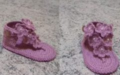 Sandália Rosa Para Bebê Crochê – Material e Vídeo
