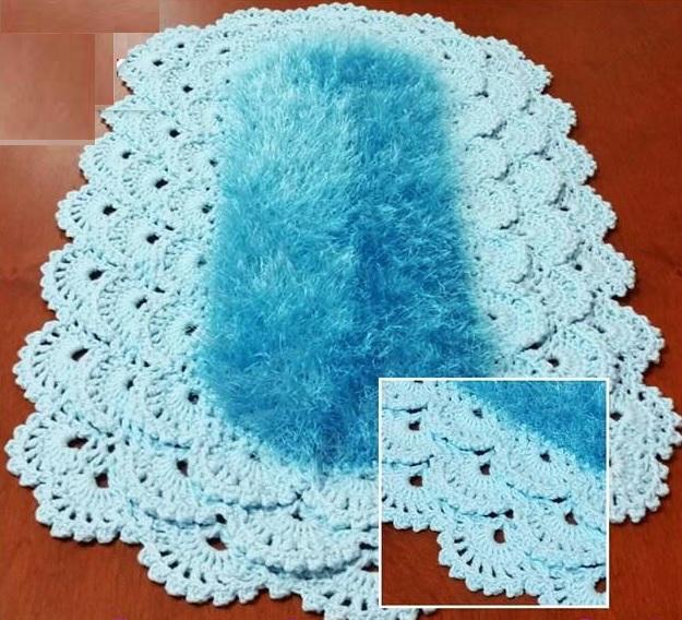 Tapete Oval Rendado Luxo Crochê – Material e Vídeo