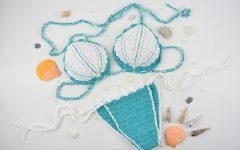 Biquíni SereiaEm Crochê – Material e Receita