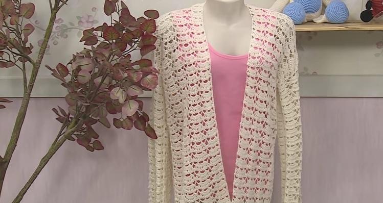 Kimono RetilíneaEm Crochê – Material, Vídeo