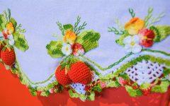 Pano de Prato Morangos Crochê – Material e Receita
