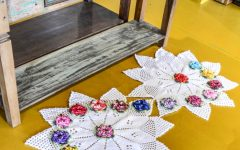 Tapete Estrelas Florais Em Crochê – Material e Receita