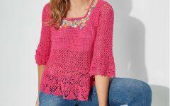 Blusa Charme Rebordada Em Crochê– Material e Receita