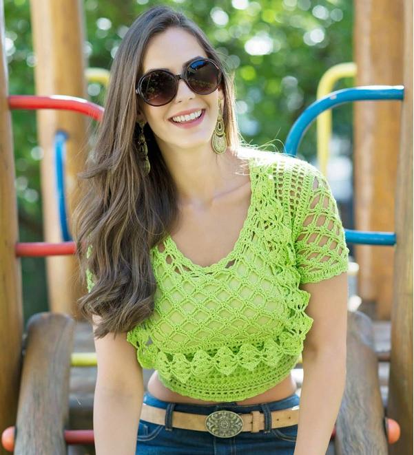 Blusa Greenery Em Crochê– Material e Receita
