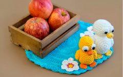 Lago Patinhos de Crochê– Material e Receita