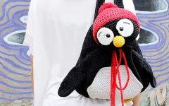 Mochila Pinguim de Crochê – Material e Receita