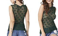 Blusa Encanto Slim Crochê – Material e Receita
