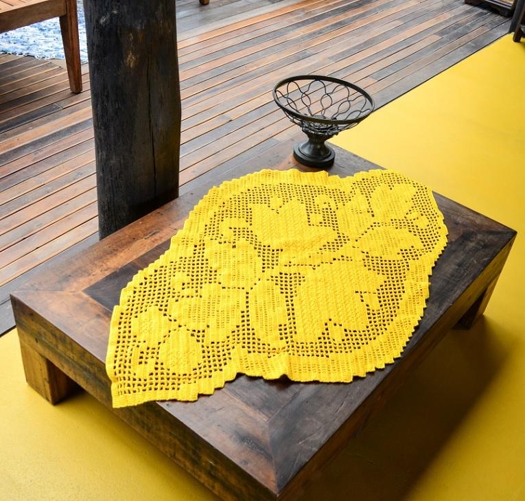 Centro de Mesa Filé Duna Crochê – Material e Receita