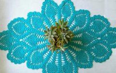 Trilho de Mesa Tiffany Em Crochê- Material e Receita
