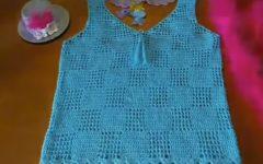Blusa Azul Verão Em Crochê – Material e Vídeo