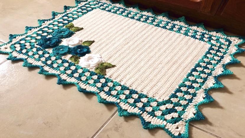 Tapete Classic Pia de Banheiro Crochê – Material e Vídeo