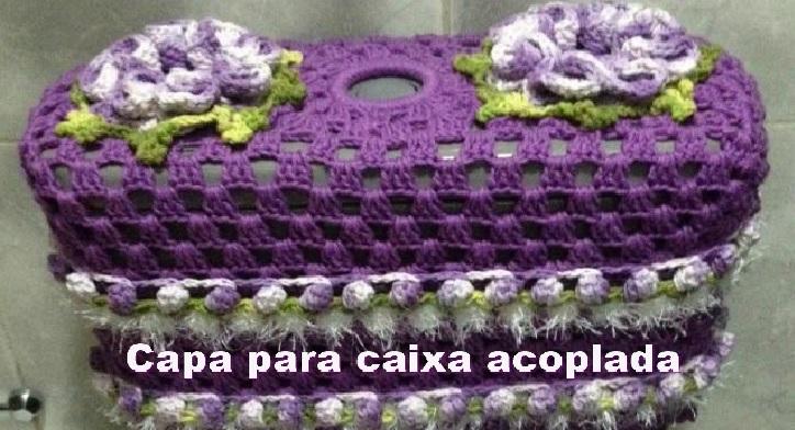 Capa Para Caixa Acoplada Crochê – Material e Vídeo