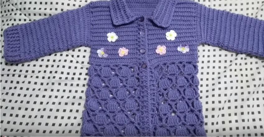 Casaco Infantil Jessy Crochê – Material e Vídeo