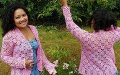 Casaquinho Rosa Meia Estação Crochê – Material e Vídeo