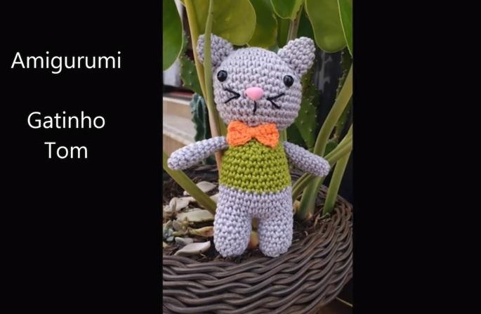 Gatinho Amigurumi Em Crochê – Material e Vídeo