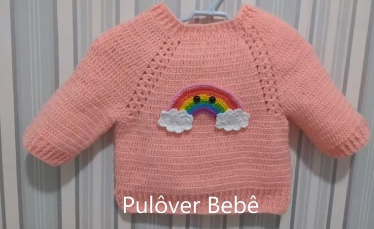 e87e288f2045 ... uma linda peça em crochê. É muito gratificante poder confeccionar uma  peça tão bonita por isso inspire-se neste modelo de blusa deixando sua bebê  com um ...