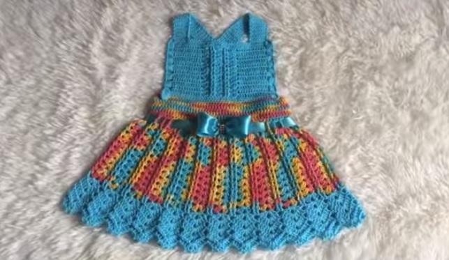 Saia Jardineira Infantil Crochê – Material e Vídeo