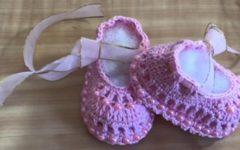 Sapatilha Bailarina Bebê Em Crochê – Material e Vídeo