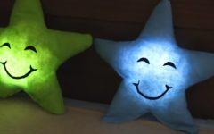 Almofada de Estrela Em Tecido Com Luz – Material e Vídeo