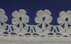 Barrado de Flores Delicadas Crochê – Material e Vídeo