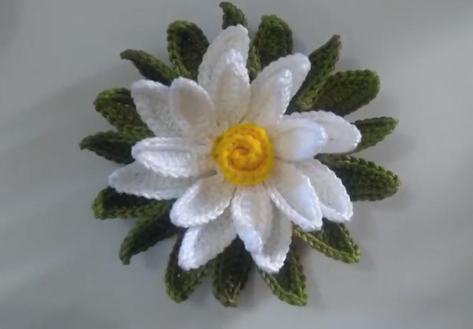 Flor Margarida Em Crochê – Material e Vídeo