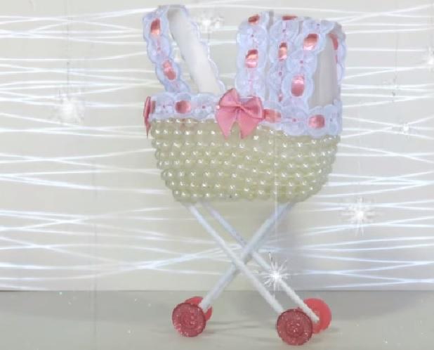 Lembrancinha Carrinho de Bebê Com Pérolas – Material e Vídeo