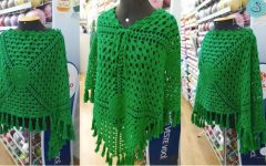 Poncho Fashion Em Crochê – Material e Vídeo