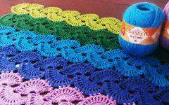 Tapete Ponto Leque Em Crochê – Material e Vídeo