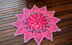Tapete Redondo Com Pontas Crochê – Material e Receita