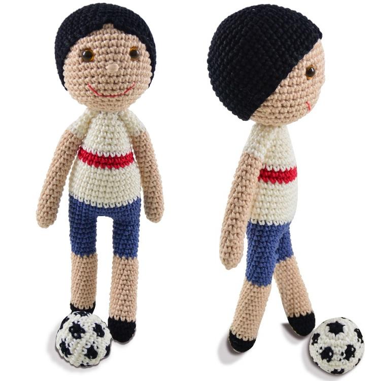 Amigurumi Jogador de Futebol Crochê – Material e Receita