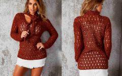 Blusa Laço Em Crochê – Material e Receita