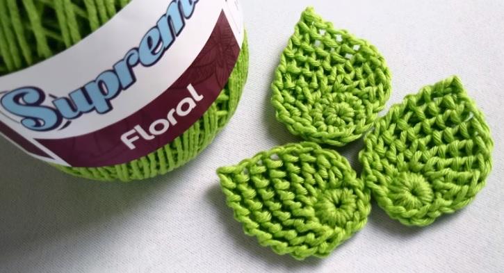 Folha Para Aplique de Crochê – Material e Vídeo