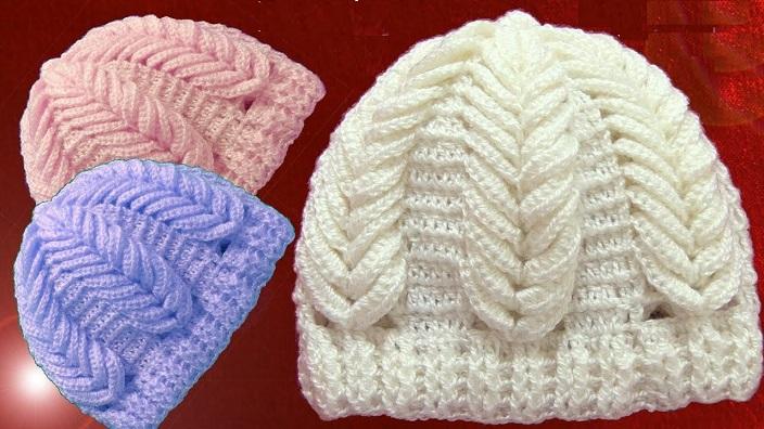 Gorro Ponto Espiga de Trigo Em Relevo Crochê – Material e Receita | Bigtudo  Artesanato