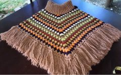 Poncho Colorido Em Crochê – Material e Vídeo