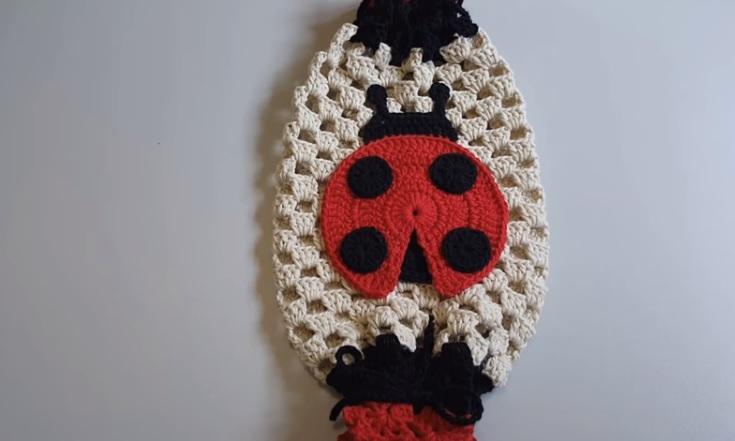 Puxa Saco Joaninha Em Crochê – Material e Vídeo