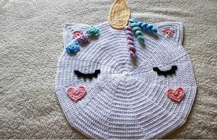 Tapete Unicórnio Em Crochê – Material e Vídeo