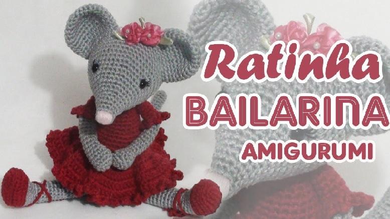 Amigurumi Ratinha Bailarina – Material e Vídeo