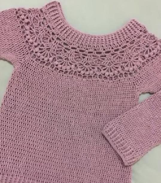 Blusão Em Crochê – Material e Vídeo