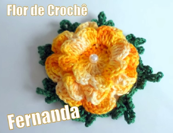 Flor Fernanda Em Crochê – Material e Vídeo