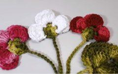 Folha e Botão Para Aplicação Crochê – Material e Vídeo