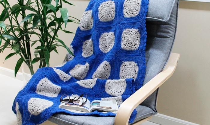 Manta de Square Em Crochê – Material e Receita