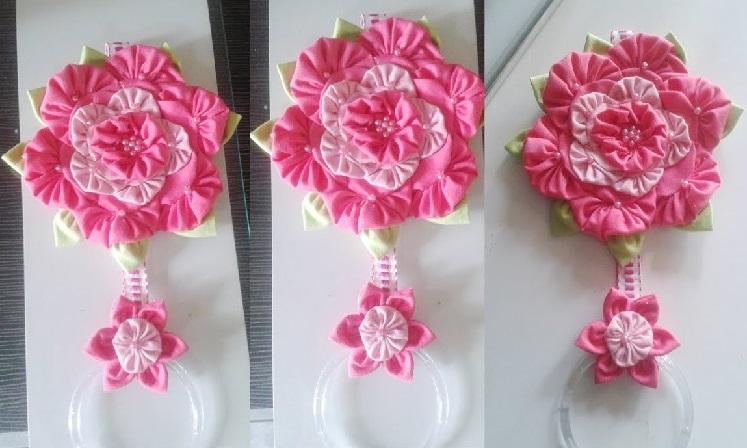 Porta Pano de Prato Em Flor Fuxico Dobrado – Material e Vídeo
