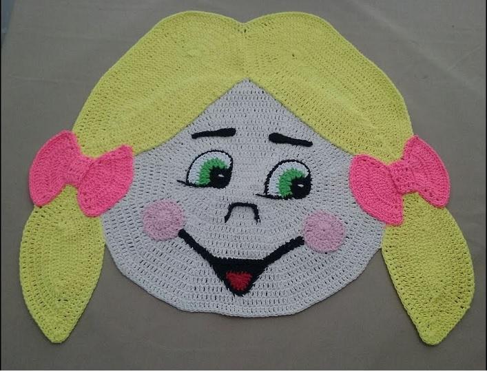 Tapete de Menina Em Crochê – Material e Vídeo