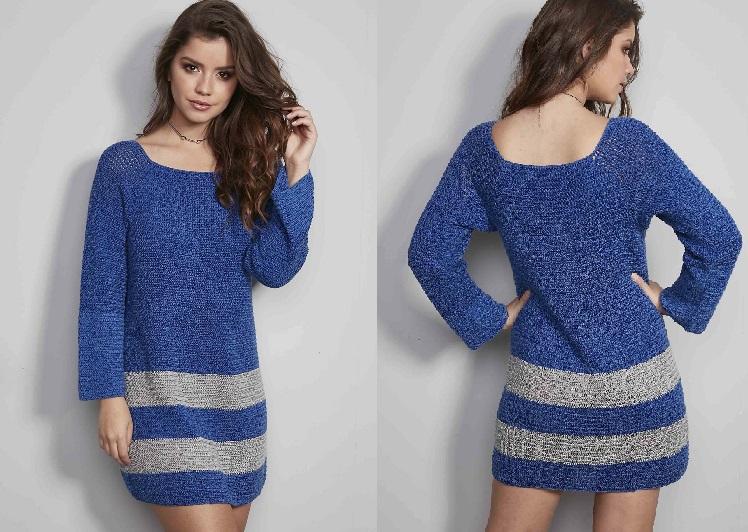 Vestido Azul Glamour – Material e Receita