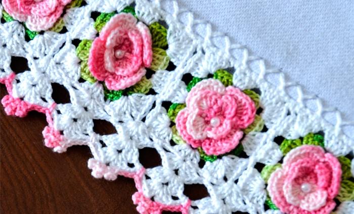 Barrado de Mini RosasEm Crochê – Material e Receita